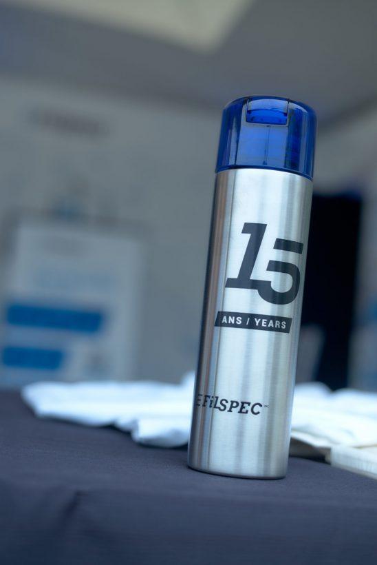 Shooting du 15e anniversaire de FilSpec - bouteille d'eau