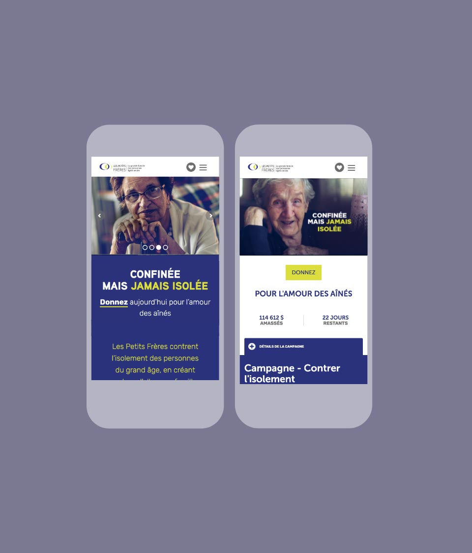 Mobile Mockup of the campaign