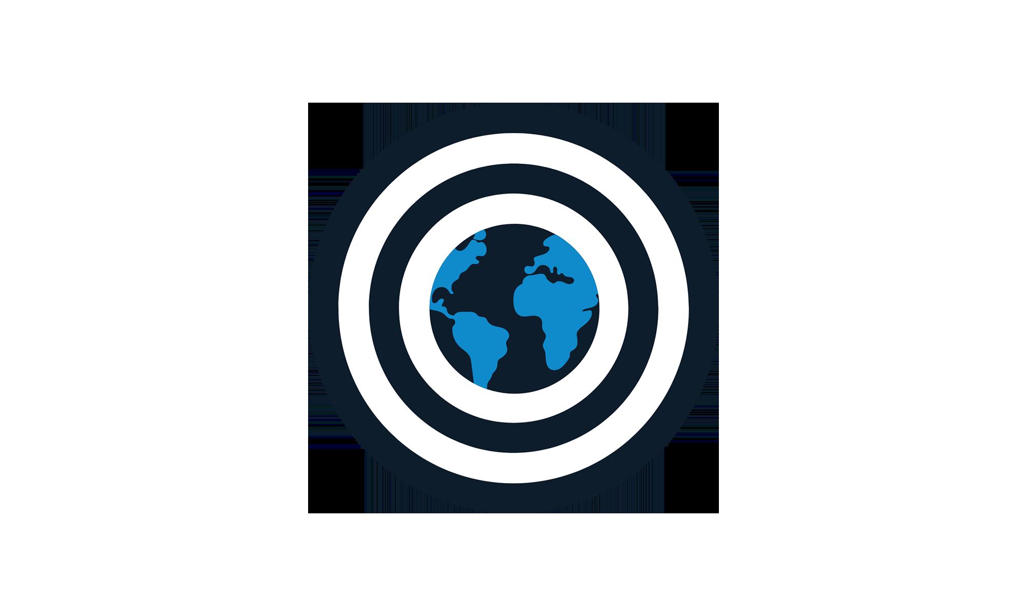 Terre au centre de la cible