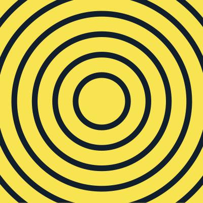Cible - Texture de cercles