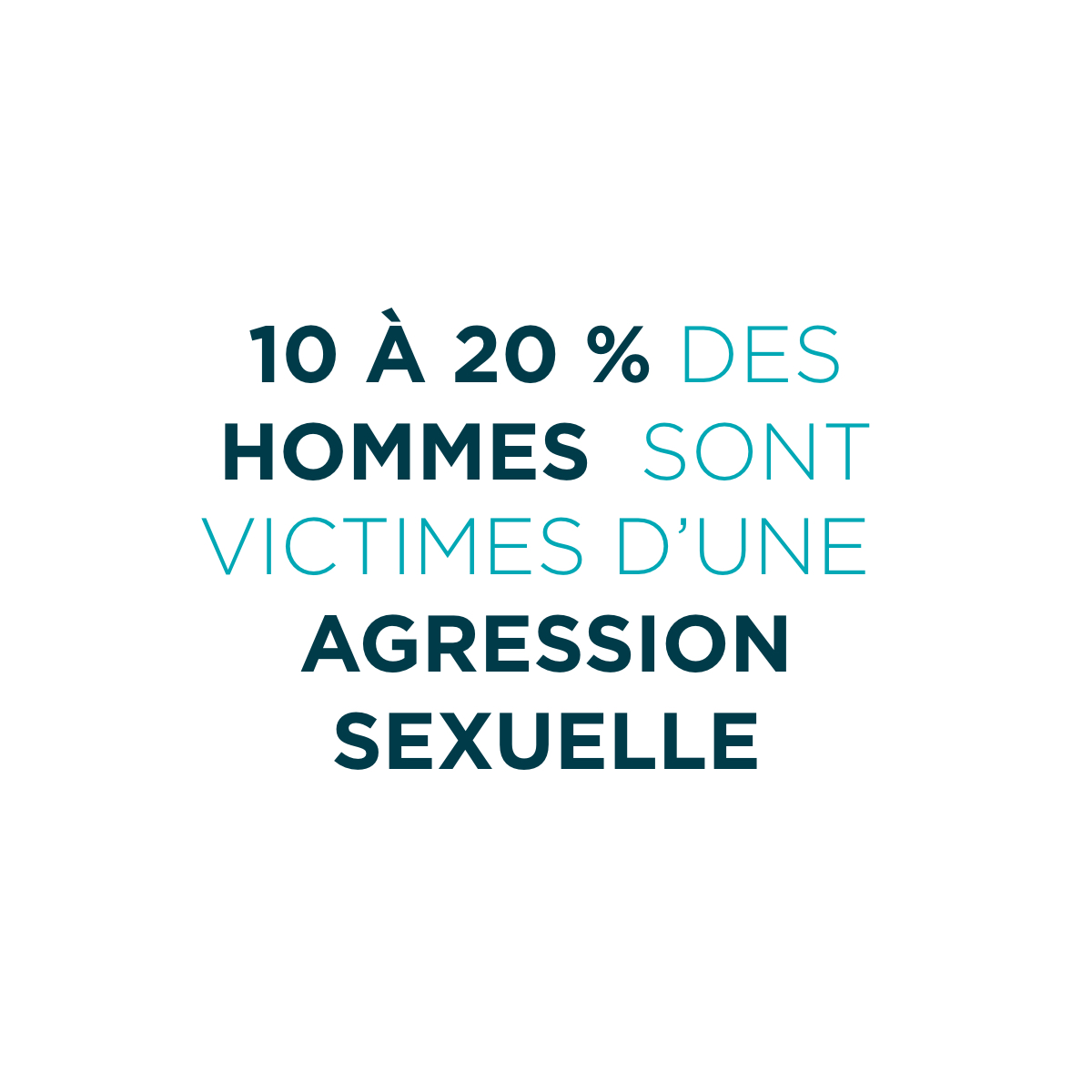 SHASE Estrie - statistics 10% to 20% of men are victims