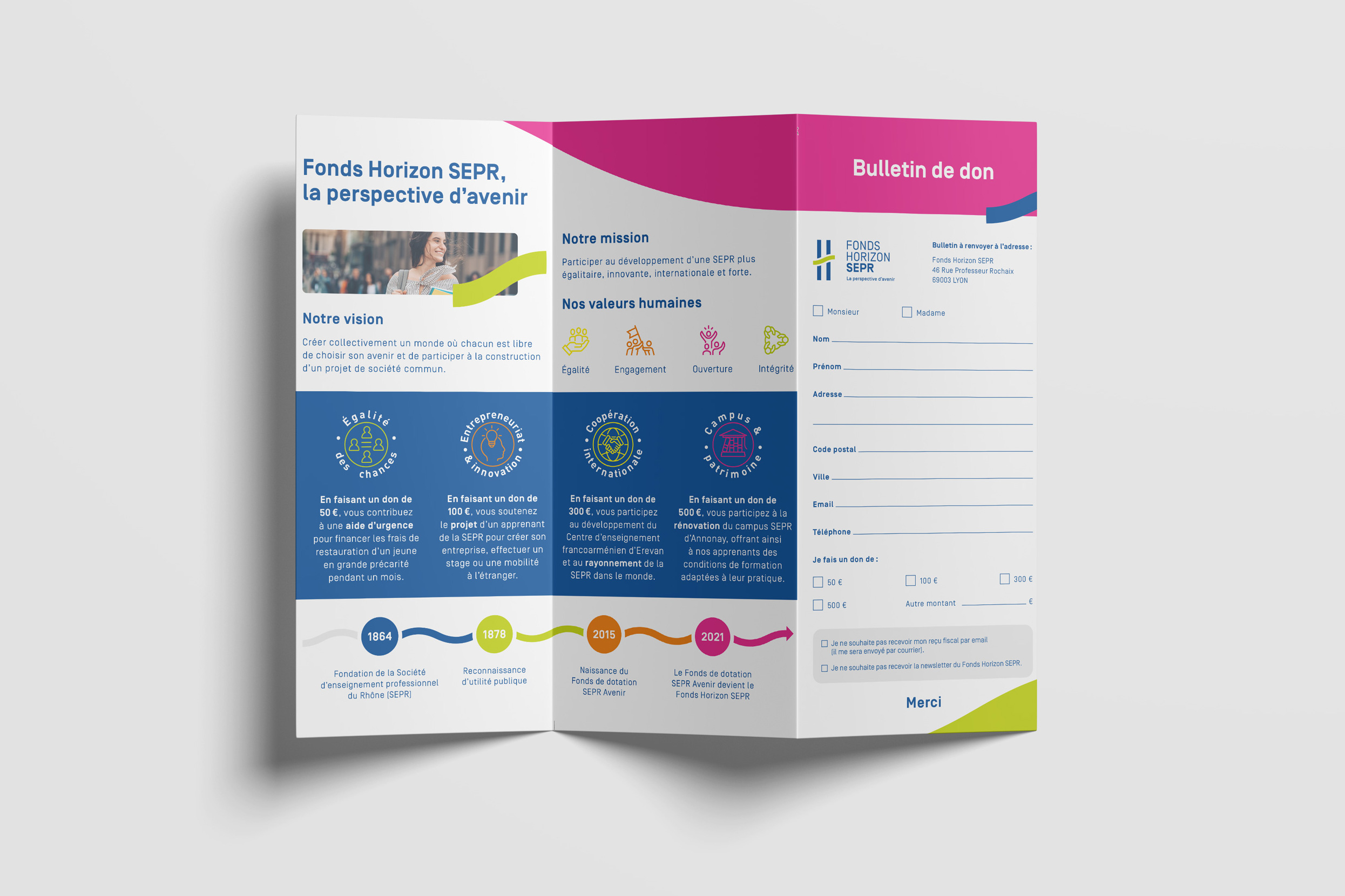 Cible - SEPR - 3-panel leaflet back