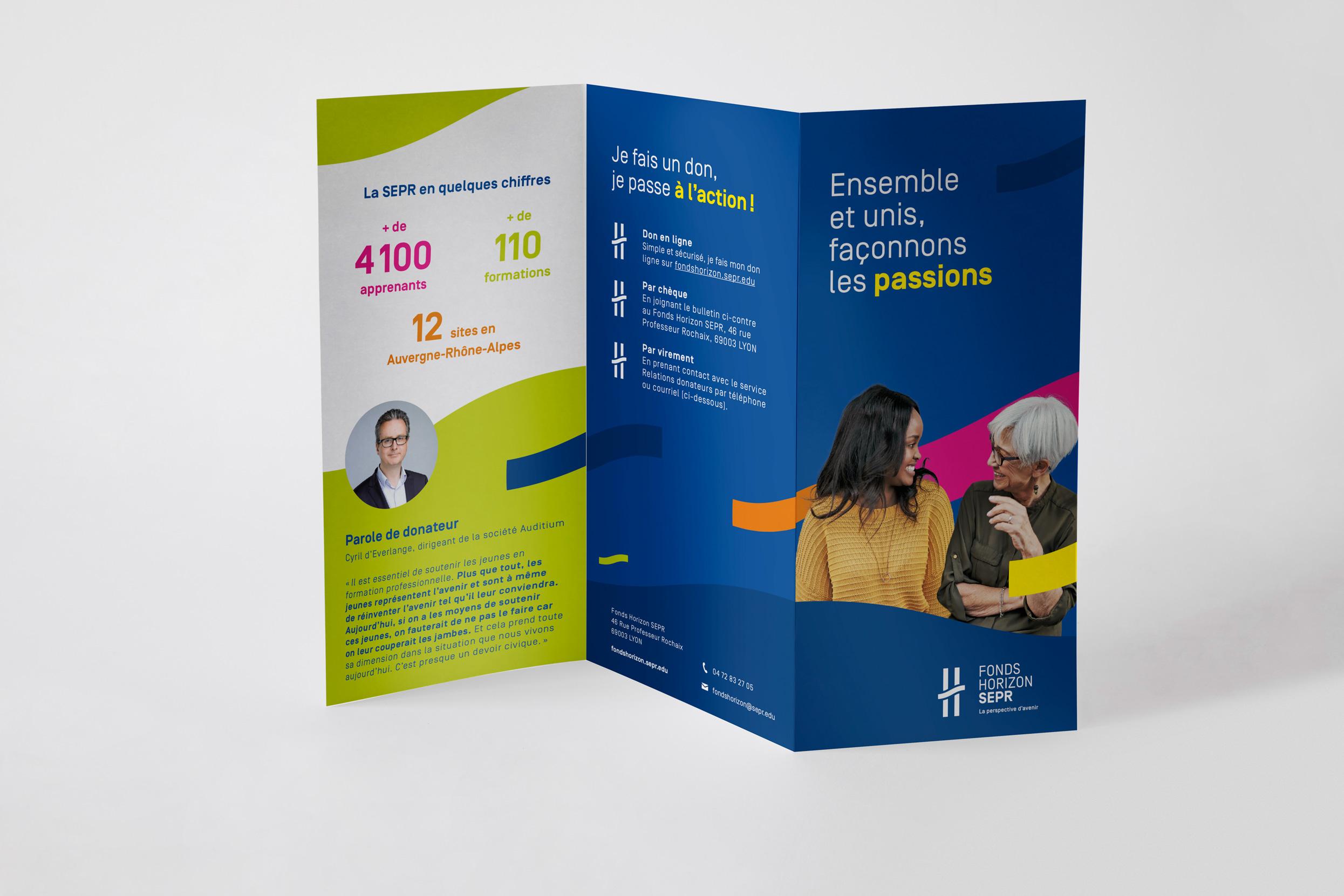 Cible - SEPR - 3-panel leaflet cover